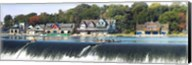 Boathouse Row at the waterfront, Schuylkill River, Philadelphia, Pennsylvania Fine-Art Print