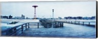 City in winter, Coney Island, Brooklyn, New York City, New York State, USA Fine-Art Print