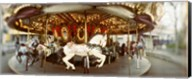 Carousel horses in an amusement park, Seattle Center, Queen Anne Hill, Seattle, Washington State, USA Fine-Art Print