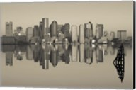Reflection of buildings in water, Boston, Massachusetts, USA Fine-Art Print