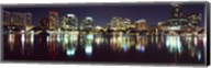 Buildings at night, Lake Eola, Orlando, Florida Fine-Art Print