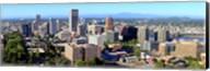 High angle view of a cityscape, Portland, Multnomah County, Oregon Fine-Art Print