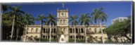 Facade of a government building, Aliiolani Hale, Honolulu, Oahu, Honolulu County, Hawaii, USA Fine-Art Print