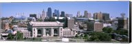 Union Station with city skyline in background, Kansas City, Missouri, USA Fine-Art Print