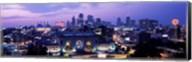 Union Station at sunset with city skyline in background, Kansas City, Missouri Fine-Art Print