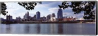 City at the waterfront, Ohio River, Cincinnati, Hamilton County, Ohio Fine-Art Print