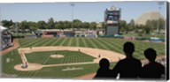 Spectator watching a baseball match at stadium, Raley Field, West Sacramento, Yolo County, California, USA Fine-Art Print