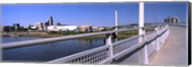 Bridge across a river, Bob Kerrey Pedestrian Bridge, Missouri River, Omaha, Nebraska, USA Fine-Art Print