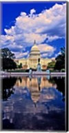Government building on the waterfront, Capitol Building, Washington DC Fine-Art Print