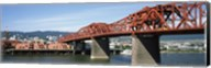 Bascule bridge across a river, Broadway Bridge, Willamette River, Portland, Multnomah County, Oregon, USA Fine-Art Print
