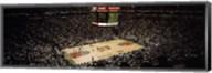 Spectators watching a basketball match, Key Arena, Seattle, King County, Washington State, USA Fine-Art Print