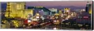 MGM Grand and Paris Casinos at night, Las Vegas, Nevada Fine-Art Print