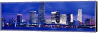 Miami skyline at night, Florida Fine-Art Print