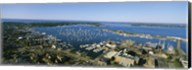 Aerial view of a harbor, Newport Harbor, Newport, Rhode Island, USA Fine-Art Print