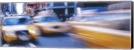 Yellow taxis on the road, Times Square, Manhattan, New York City, New York State, USA Fine-Art Print