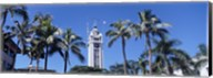 Low angle view of a tower, Aloha Tower, Oahu, Honolulu, Hawaii, USA Fine-Art Print