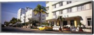 Car parked in front of a hotel, Miami, Florida, USA Fine-Art Print