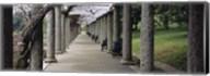 Columns Along A Path In A Garden, Maymont, Richmond, Virginia, USA Fine-Art Print