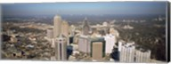 High angle view of buildings in a city, Atlanta, Georgia, USA Fine-Art Print
