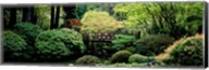 Panoramic view of a garden, Japanese Garden, Washington Park, Portland, Oregon Fine-Art Print