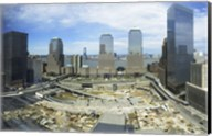 High angle view of buildings in a city, World Trade Center site, New York City, New York State, USA, 2006 Fine-Art Print