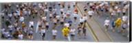 People running in a marathon, Chicago Marathon, Chicago, Illinois, USA Fine-Art Print