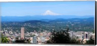 High angle view of a city, Mt Hood, Portland, Oregon, USA 2010 Fine-Art Print