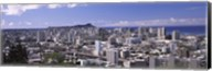 High angle view of a city, Honolulu, Oahu, Honolulu County, Hawaii, USA Fine-Art Print