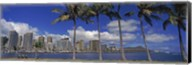 Skyscrapers at the waterfront, Honolulu, Hawaii Fine-Art Print
