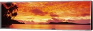 Sunset, Huahine Island, Tahiti Fine-Art Print