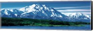 Snow covered mountain in Denali National Park AK Fine-Art Print