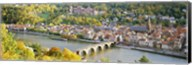 Aerial view of Heidelberg Castle and city, Heidelberg, Baden-Wurttemberg, Germany Fine-Art Print