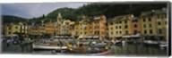 Fishing boats at the harbor, Portofino, Italy Fine-Art Print