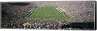 Aerial view of a football stadium, Notre Dame Stadium, Notre Dame, Indiana, USA Fine-Art Print