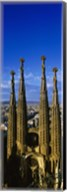 High Section View Of Towers Of A Basilica, Sagrada Familia, Barcelona, Catalonia, Spain Fine-Art Print