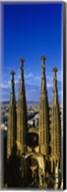 High Section View Of Towers Of A Basilica, Sagrada Familia, Barcelona, Catalonia, Spain Fine-Art Print