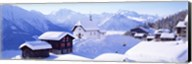 Snow Covered Chapel and Chalets Swiss Alps Switzerland Fine-Art Print
