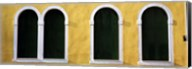 Windows in Yellow Wall Venice Italy Fine-Art Print