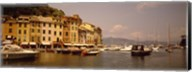 Boats in a canal, Portofino, Italy Fine-Art Print