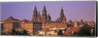 Cathedral in a cityscape, Santiago De Compostela, La Coruna, Galicia, Spain Fine-Art Print
