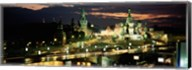 Red Square at night, Kremlin, Moscow, Russia Fine-Art Print