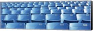 Empty blue seats in a stadium, Soldier Field, Chicago, Illinois, USA Fine-Art Print