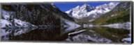 Reflection of a mountain in a lake, Maroon Bells, Aspen, Colorado Fine-Art Print