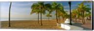 Palm trees on the beach, Las Olas Boulevard, Fort Lauderdale, Florida, USA Fine-Art Print