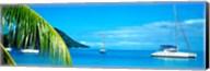 Sailboats in the ocean, Tahiti, Society Islands, French Polynesia (horizontal) Fine-Art Print