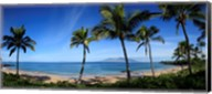 Palm trees on the beach, Maui, Hawaii, USA Fine-Art Print