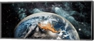 Earth in space Fine-Art Print