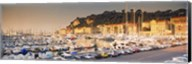 Port of Nice lined by old houses and filled with new yachts, Nice, Alpes-Maritimes, Provence-Alpes-Cote d'Azur, France Fine-Art Print