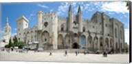 People in front of a palace, Palais des Papes, Avignon, Vaucluse, Provence-Alpes-Cote d'Azur, France Fine-Art Print