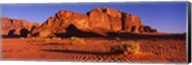 Rock formations in a desert, Jebel Um Ishrin, Wadi Rum, Jordan Fine-Art Print